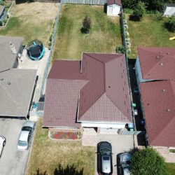 Aerial View of Metal Roof