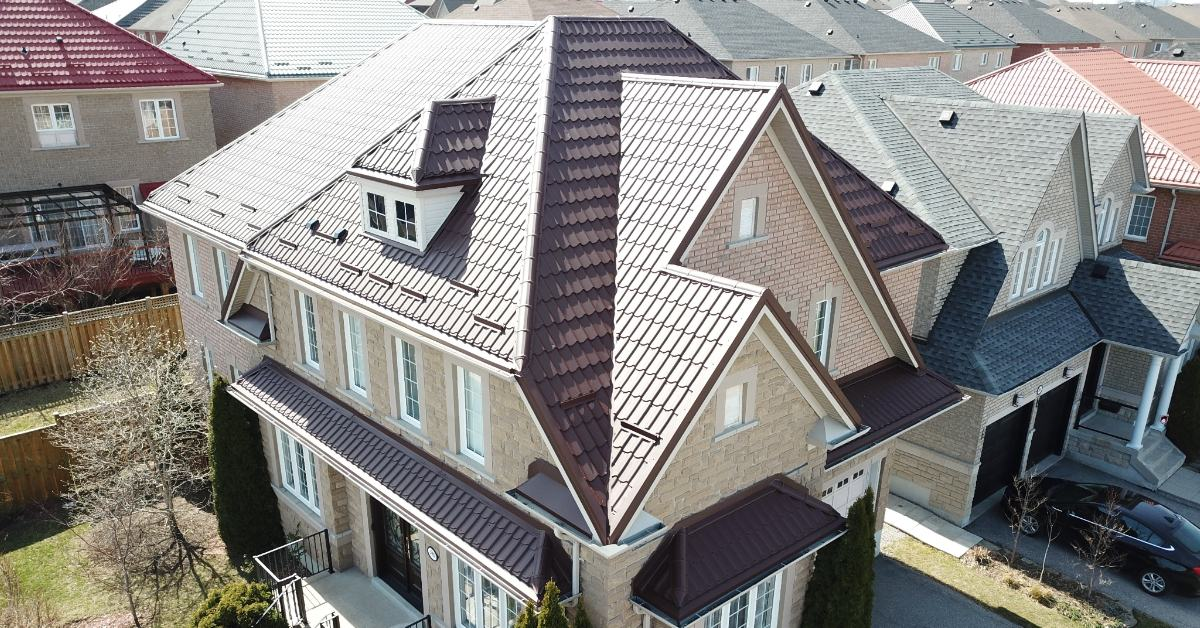 Exposed Fastener red roof system